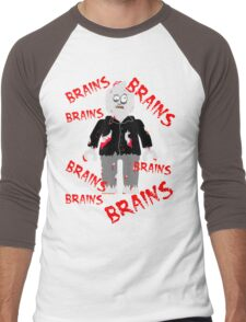 A LOT OF BRAINS - ZOMBIE MINIFIG Men's Baseball ¾ T-Shirt