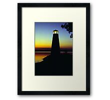 Lighthouse at Sunset Framed Print