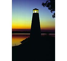 Lighthouse at Sunset Photographic Print