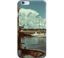 Fishing boats in a port iPhone Case/Skin