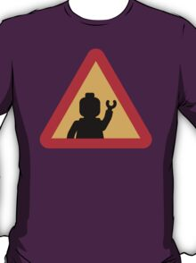 Minifig Triangle Road Traffic Sign T-Shirt