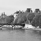 Pont des Arts and The Louvre by Alex Cassels