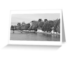 Pont des Arts and The Louvre Greeting Card