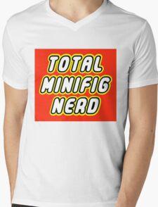 TOTAL MINIFIG NERD Mens V-Neck T-Shirt