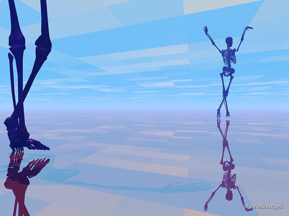 prancing skeleton by stevesimages