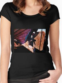 Old rust boat restoration Women's Fitted Scoop T-Shirt