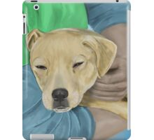 Blond Dog is Being Cradled by a Person iPad Case/Skin