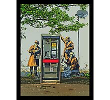 GCHQ listening post by Banksy Photographic Print