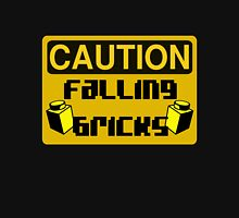 Caution Falling Bricks Unisex T-Shirt