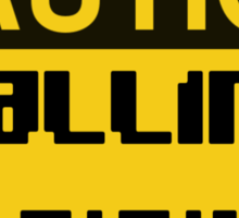Caution Falling Bricks Sticker