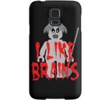 "Zombie Minifig ""I LIKE BRAINS"", by Customize My Minifig Samsung Galaxy Case/Skin"