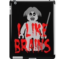 "Zombie Minifig ""I LIKE BRAINS"", by Customize My Minifig iPad Case/Skin"