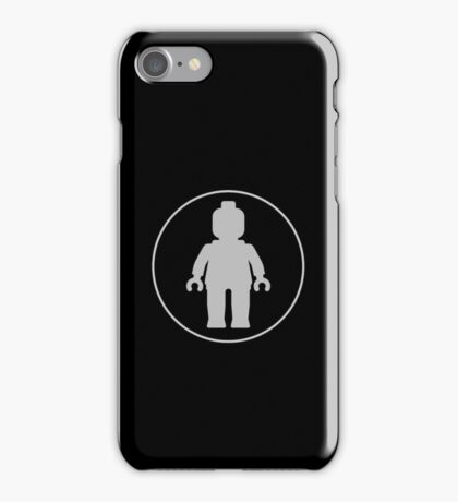 MINIFIG GREY iPhone Case/Skin