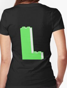 THE LETTER L  Customize My Minifig Womens Fitted T-Shirt