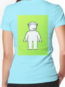 Banksy Style Astronaut Minifig  Customize My Minifig Women's Fitted V-Neck T-Shirt