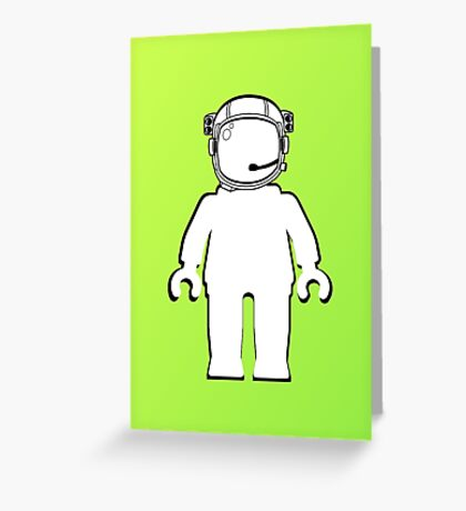 Banksy Style Astronaut Minifig  Customize My Minifig Greeting Card