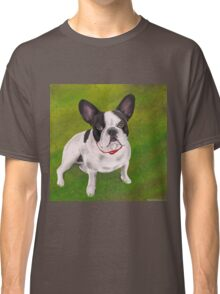 Beautiful Black and white French Bulldog on Grass Classic T-Shirt