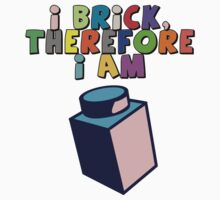 I Brick, Therefore I am Kids Clothes
