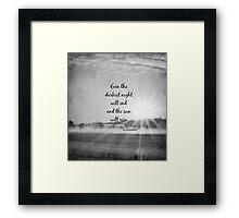 Les Miserables Sun Rise Framed Print