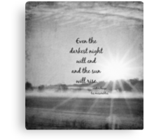 Les Miserables Sun Rise Canvas Print