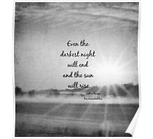 Les Miserables Sun Rise Poster