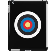 Bulls eye, Red, White, Blue, Roundel, Target, SMALL ON BLACK iPad Case/Skin