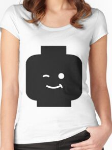 Minifig Winking Head Women's Fitted Scoop T-Shirt