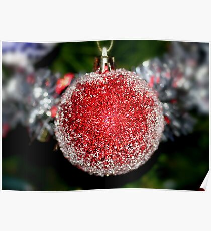 Glittering Bauble Poster