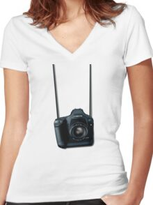 Camera shirt - for Canon users Women's Fitted V-Neck T-Shirt