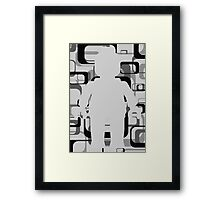 Retro Minifig Art Framed Print