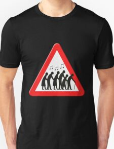 Elderly people getting jiggy with it sign Unisex T-Shirt