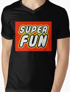 SUPER FUN Mens V-Neck T-Shirt