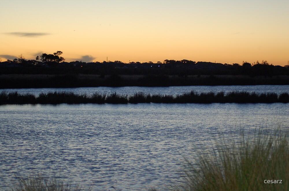 Sunset Waterways by cesarz