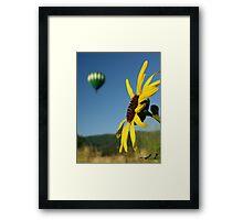 Balloon & Sunflower Framed Print