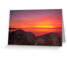 Sunset at Halls Harbour Greeting Card