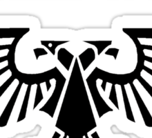 burn the heretic, imperial aquila Sticker