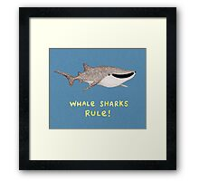Whale Sharks Rule! Framed Print