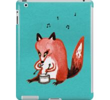 Drumming Fox iPad Case/Skin