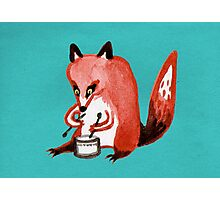Drumming Fox Photographic Print