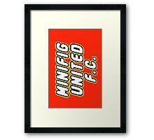 MINIFIG UNITED FC, Customize My Minifig Framed Print