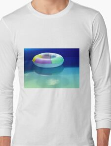 Swimming belt in a swimming pool Long Sleeve T-Shirt