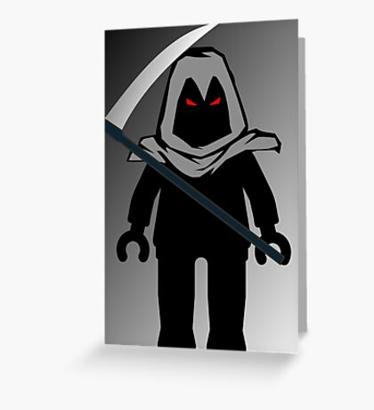Grim Reaper Minifig, 'Customize My Minifig' Greeting Card