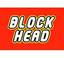 BLOCK HEAD Photographic Print
