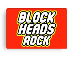 BLOCK HEADS ROCK Canvas Print