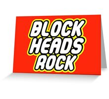 BLOCK HEADS ROCK Greeting Card