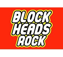 BLOCK HEADS ROCK Photographic Print