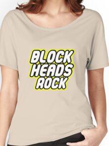 BLOCK HEADS ROCK Women's Relaxed Fit T-Shirt