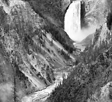 Yellowstone National Park Waterfall by cshphotos