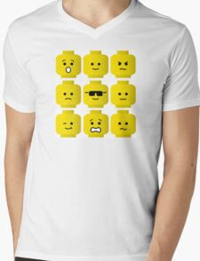 'Minifig Moods' Mens V-Neck T-Shirt