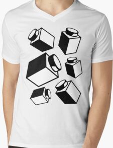 1 x 1 Bricks (AKA Falling Bricks), Customize My Minifig Mens V-Neck T-Shirt